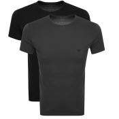 Emporio Armani Lounge 2 Pack T Shirts Black